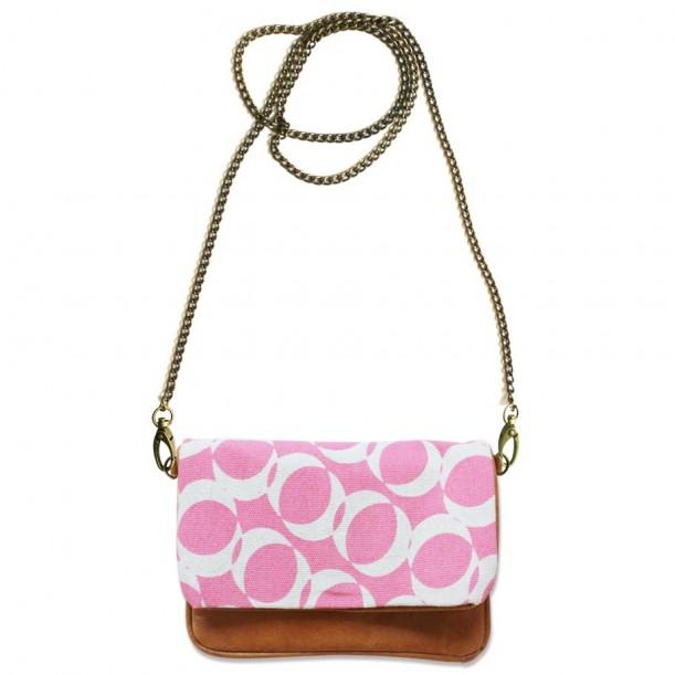 Shoulder bag 3 in 1 Kelly Rose Leather and Canvas Bakker