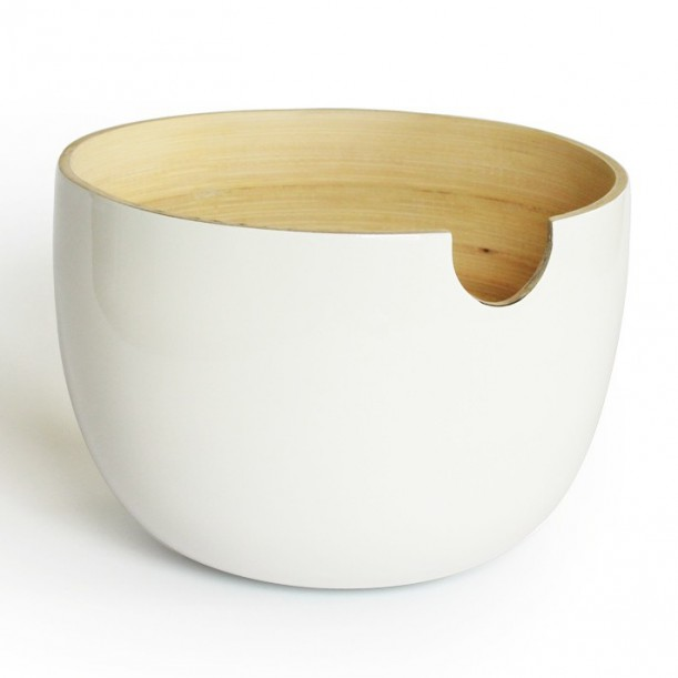 Small White Salad Bowl GLOBO Ekobo