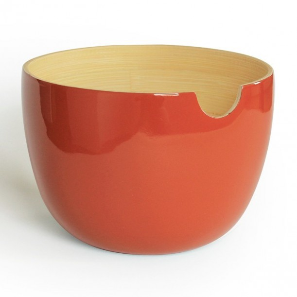 Small Tangerine Salad Bowl GLOBO Ekobo