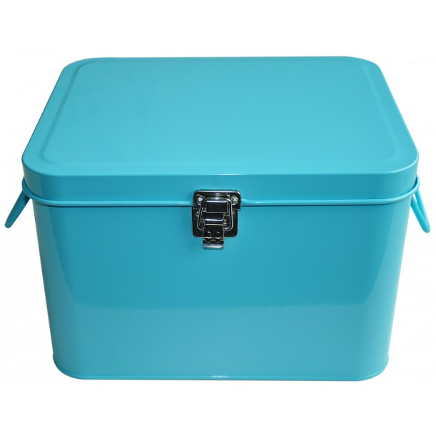 Turquoise Storage Metal Box Waterquest