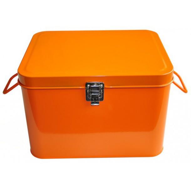 Orange Storage Metal Box Waterquest