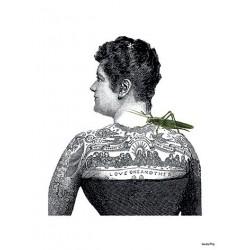 Affiche Tatoo Lady Vanilla Fly
