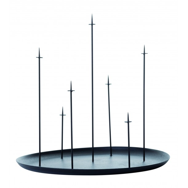 Bougeoir Multi Candle Pin Noir Eno