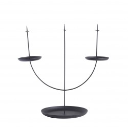 Bougeoir Candelabra Pin Noir Eno