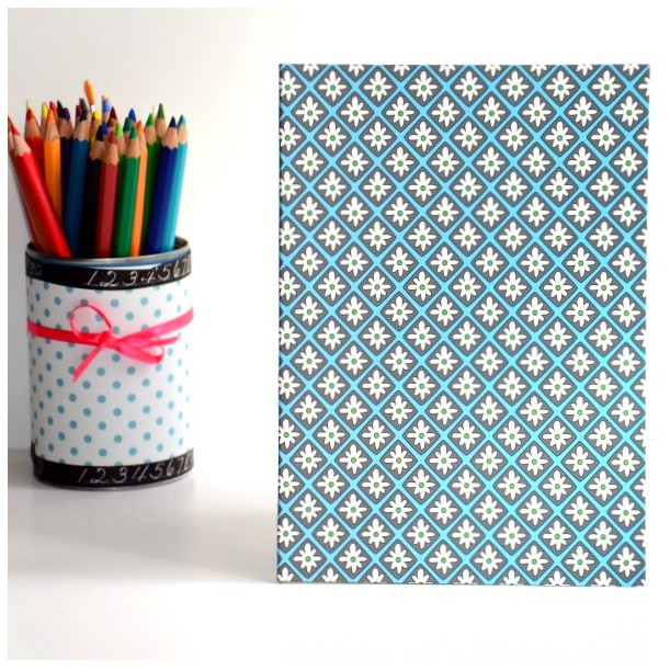 Carnet A5 Gris Etoiles Blanches