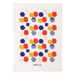 Tea Towel Hexagone Atelier LZC