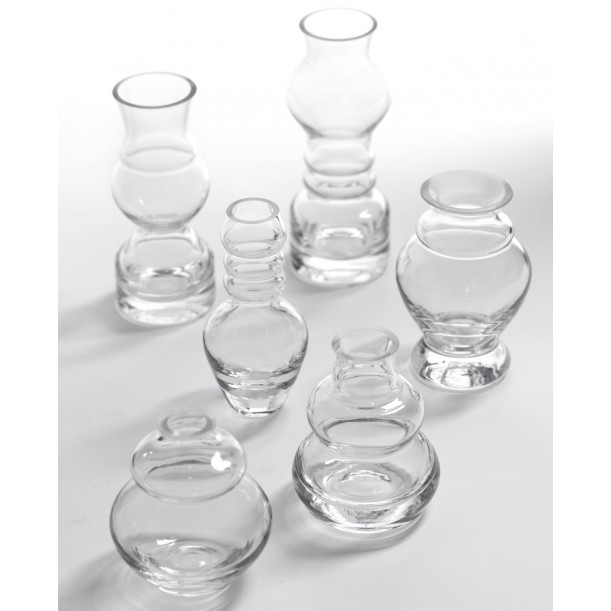 Set of 6 Transparent Soliflores Rene Barba Serax