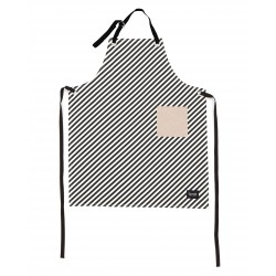 Black Stripe Apron Ferm Living