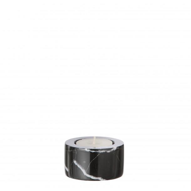 Black Marble Candleholder Tea Light Ferm Living