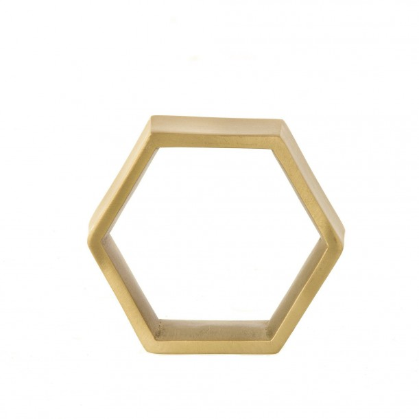 Set de 4 Ronds de Serviette Brass Hexagon Ferm Living