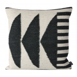 Kelim Cushion Black Triangles Ferm Living
