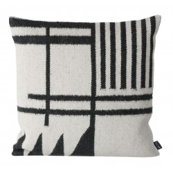 Kelim Cushion Black Lines Ferm Living