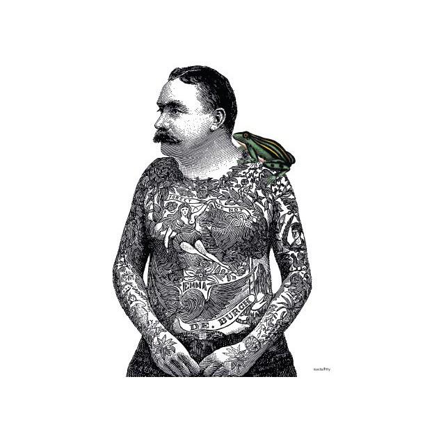 Print Tattoo Toad Vanilla Fly