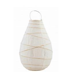 Petit Lampion Drop en Papier Blanc et Bambou House Doctor