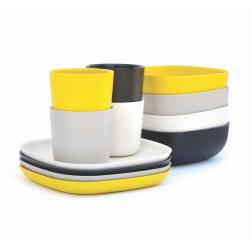 4 Breakfast Sets Black Stone White Lemon Biobu Gusto by Ekobo