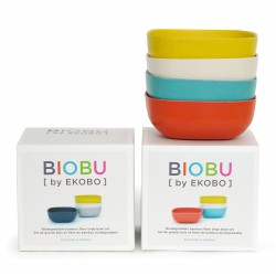 Set de 4 Grands Bols Persimmon Blanc Lagoon Lemon Gusto Biobu by Ekobo