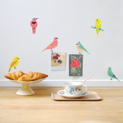 Wall Sticker Just a Touch Birds Colony Mimilou