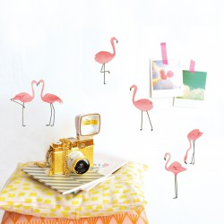 Sticker Mural Just a Touch Flamants Roses Mimilou