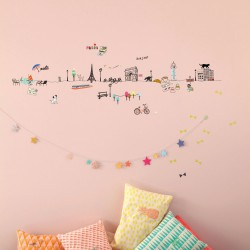 Sticker Mural Frise Paris Mimilou