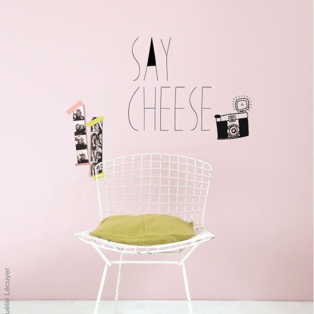 Sticker Mural Say Cheese Mimilou