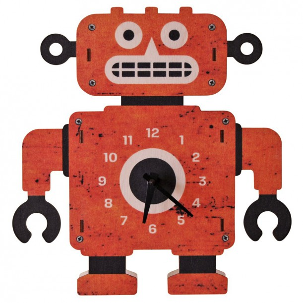 Robot Clock by Modern Moose