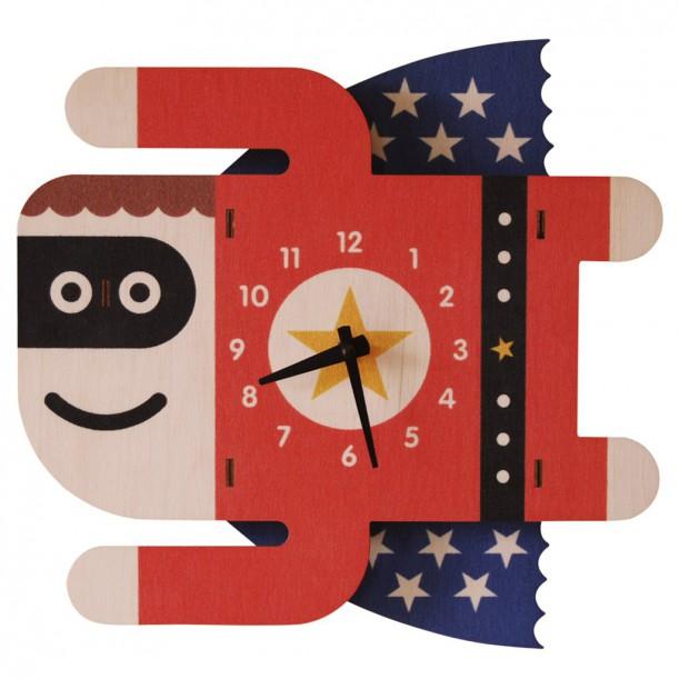 Horloge Murale Superboy pour Enfants Modern Moose