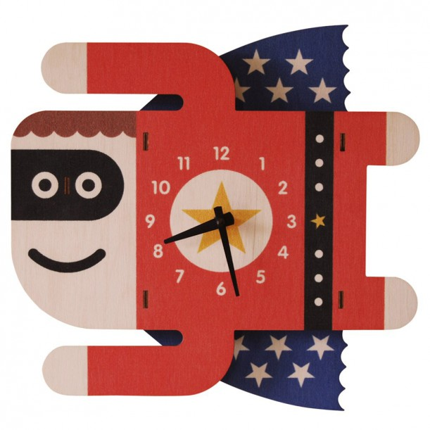 Superboy Clock by Modern Moose