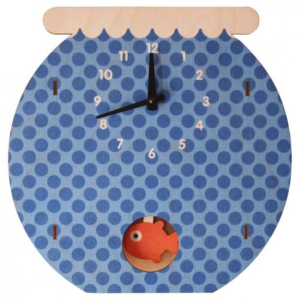 Horloge Murale à Balancier Fishbowl pour Enfants Modern Moose