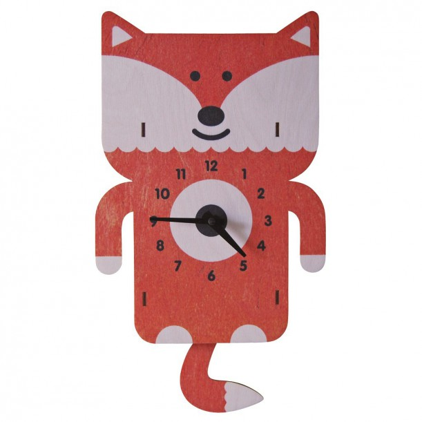 Fox Pendulum Clock by Modern Moose