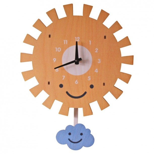 Sun Pendulum Clock by Modern Moose