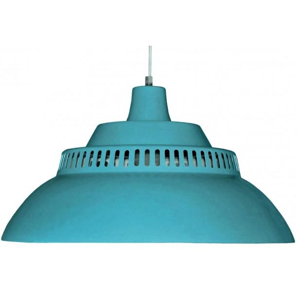 Large Pendant Lamp Blue Petrol Diam 50 cm Waterquest
