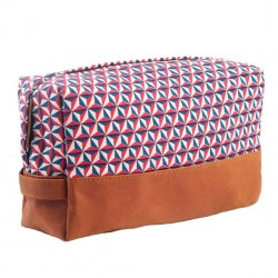Toilet Bag Bintang Printed Canvas and Leather Bakker