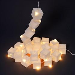 Guirlande Lumineuse Cubiste Blanche LED Tsé Tsé