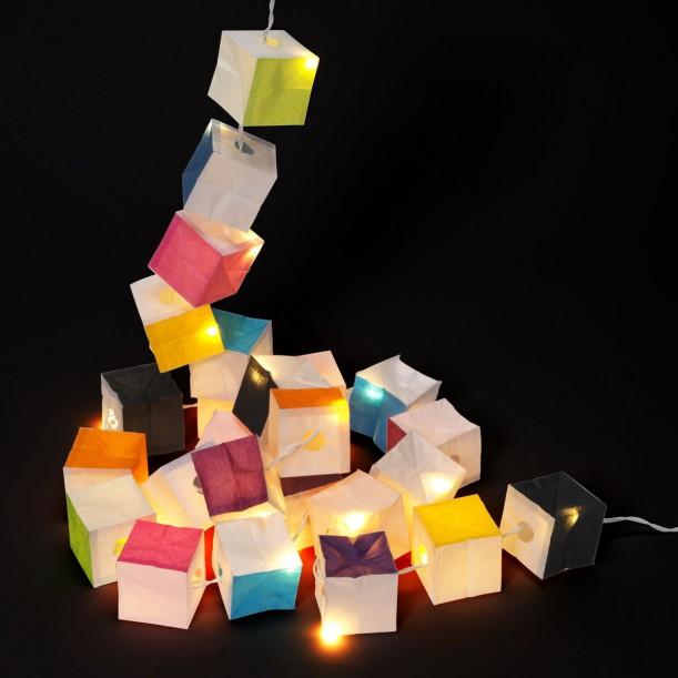 String of Fairy Colored Cubic Lights LED Tsé Tsé