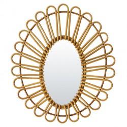 Miroir Vintage Ovale Rotin Bakker
