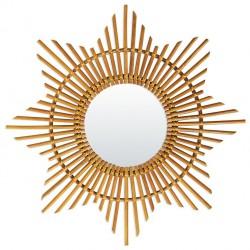 Rattan Vintage Mirror Sun Bakker