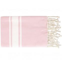 Fouta Flat Weaving Rose Bébé