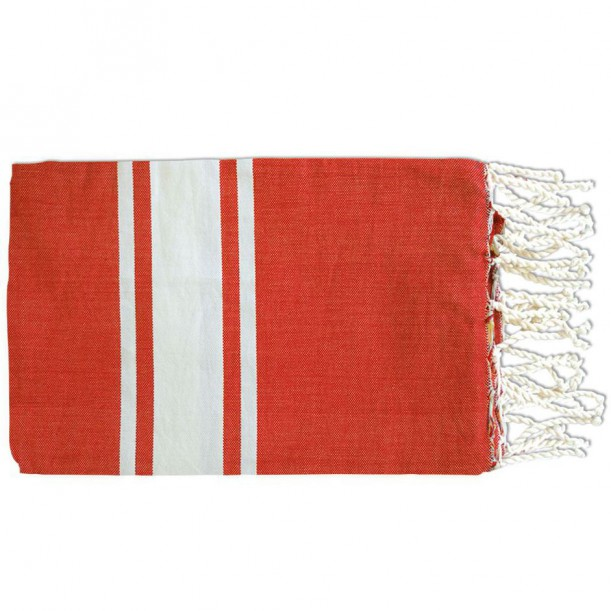 Fouta Flat Weaving Rouge Inès
