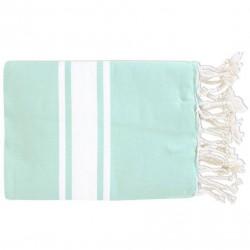 Fouta Flat Weaving Bleu Aqua