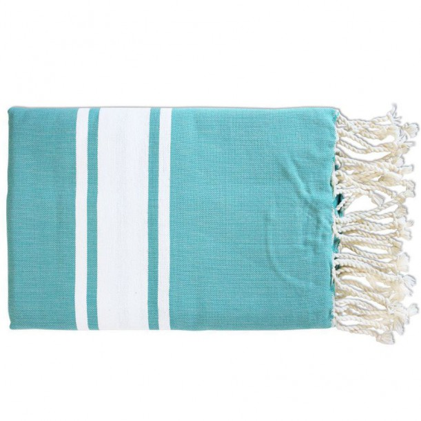Fouta Flat Weaving Bleu Bora