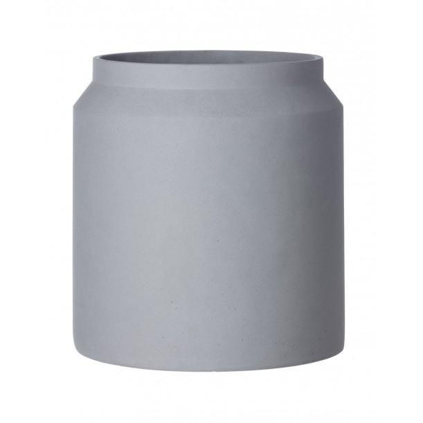 Large Concrete Pot Light Grey Diam 36 x H 39 cm Ferm Living