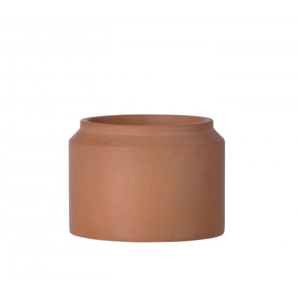 Small Concrete Pot Ochre Diam 15 x H 11 cm Ferm Living