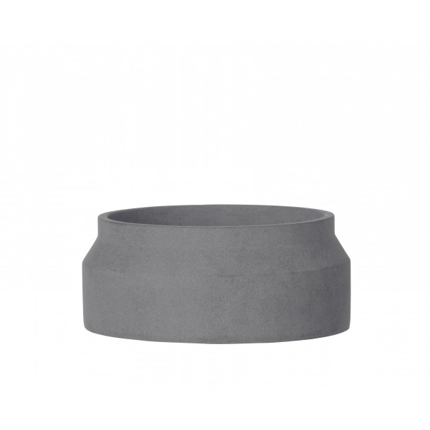 Small Concrete Pot Dark Grey Diam 20 x H 8.5 cm Ferm Living