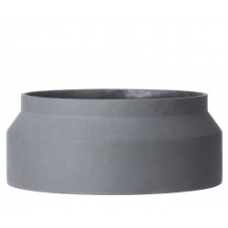 Large Concrete Pot Dark Grey Diam 45 x H 19 cm Ferm Living