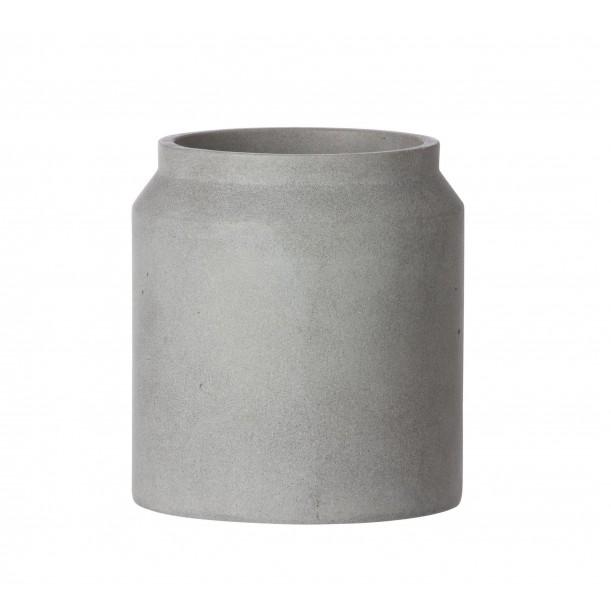 Small Concrete Pot Light Grey Diam 18 x H 16 cm Ferm Living