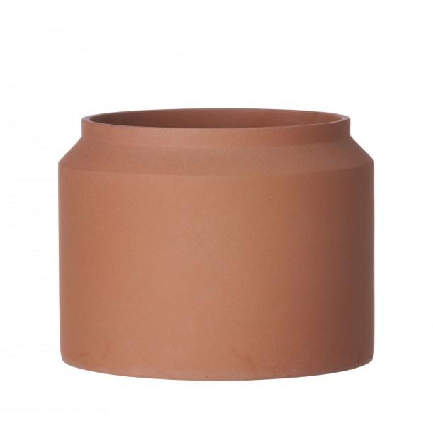 Large Concrete Pot Ochre Diam 32 x H 25 cm Ferm Living