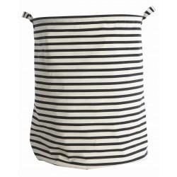 Laundry Bag Black Stripes House Doctor
