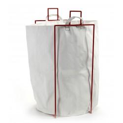 Sac à Linge Blanc avec Support Métallique Rouge Marie Serax