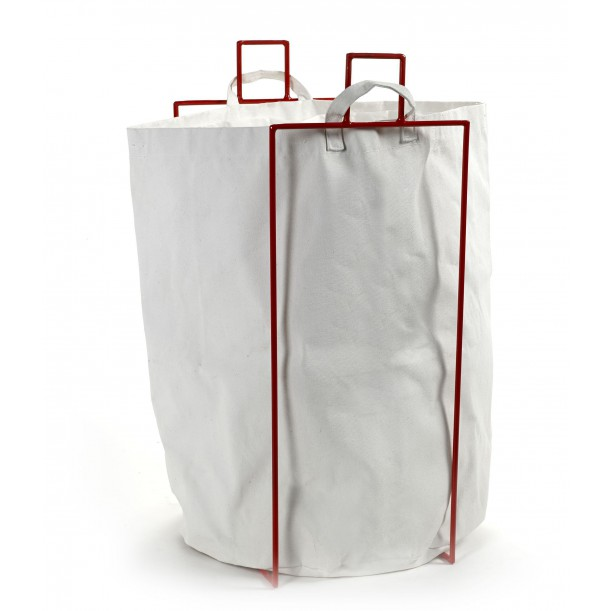 Laundry Bag Canvas with Red metallic holder Marie Serax