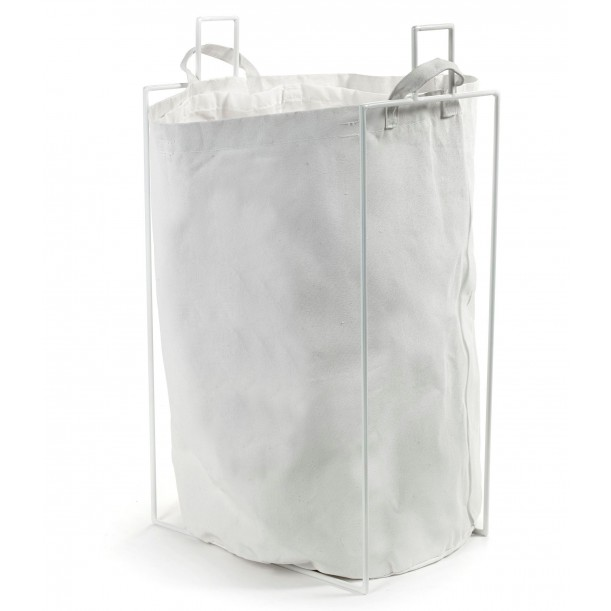 Laundry Bag Canvas with White metallic holder Marie Serax